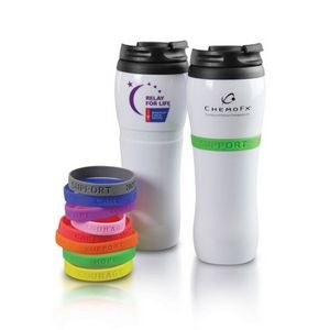 Cup for A Cause 14 OZ Double Wall Tumbler with silicone band