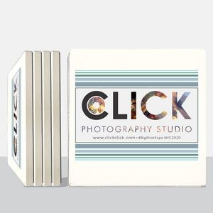 Square Absorbent Stone Coasters (4-Pack)